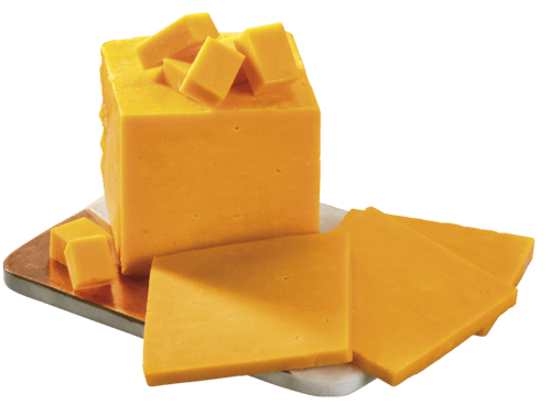 Cheddar coloured mild 48%, cca 2,5kg